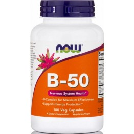 VITAMIN B-50 COMPLEX NOW FOODS 100caps ΒΙΤΑΜΙΝΗ Β