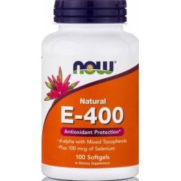 VITAMIN E-400IU Mixed Tocopherols / Unesterified (ΒΙΤΑΜΙΝΗ Ε) NOW FOODS 50sgels ΒΙΤΑΜΙΝΗ Ε