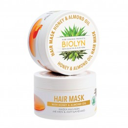 HAIR MASK WITH HONEY & ALMOND OIL (ΜΑΣΚΑ ΜΑΛΛΙΩΝ ΜΕ ΜΕΛΙ & ΑΜΥΓΔΑΛΕΛΑΙΟ) BIOLYN 220ml ΜΑΣΚΕΣ ΜΑΛΛΙΩΝ