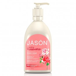 INVIGORATING ROSEWATER HAND SOAP (ΥΓΡΟ ΜΕΤΑΞΕΝΙΟ ΚΡΕΜΟΣΑΠΟΥΝΟ ΜΕ ΡΟΔΟΝΕΡΟ) JASON 473ml JASON