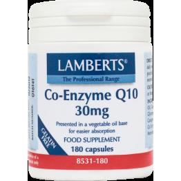 Co-ENZYME Q-10 (ΣΥΝΕΝΖΥΜΟ Q-10) LAMBERTS 30mg 30caps ΠΕΡΙΟΔΟΝΤΙΤΙΔΑ