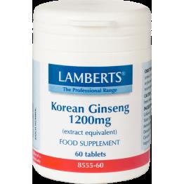 KOREAN GINSENG (ΤΖΙΝΣΕΝΓΚ) LAMBERTS 1200mg 60tabs