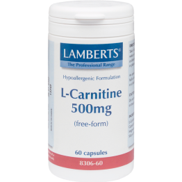 L-CARNITINE (ΚΑΡΝΙΤΙΝΗ) LAMBERTS 500mg 60caps ΚΑΡΔΙΑΚΗ ΛΕΙΤΟΥΡΓΙΑ