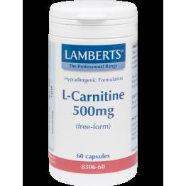 L-CARNITINE (ΚΑΡΝΙΤΙΝΗ) LAMBERTS 500mg 60caps