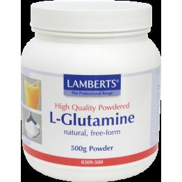 L-GLUTAMINE POWDER (ΓΛΟΥΤΑΜΙΝΗ ΣΕ ΣΚΟΝΗ) LAMBERTS 500gr