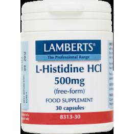 L-HISTIDINE (ΙΣΤΙΔΙΝΗ) LAMBERTS 500mg 30caps ΑΜΙΝΟΞΕΑ