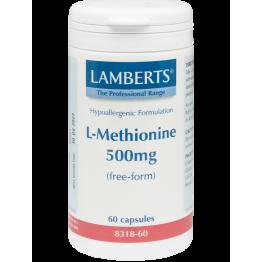 L-METHIONINE (ΜΕΘΕΙΟΝΙΝΗ) LAMBERTS 500mg 60caps