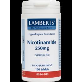 NICOTINAMIDE (VITAMIN B-3) - (ΝΙΑΣΙΝΗ) LAMBERTS 250mg 100tabs