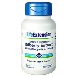 BILBERRY EXTRACT CERTIFIED EUROPEAN (ΜΥΡΤΙΛΛΟ) LIFE EXTENSION 100mg 100caps LIFE EXTENSION