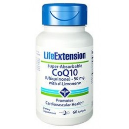 CoQ10 SUPER ABSORBABLE w/D-LIMONENE (ΣΥΝΕΝΖΥΜΟ Q-10) LIFE EXTENSION 50mg 60sgels LIFE EXTENSION