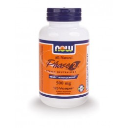 PHASE 2 Starch Neutralizer NOW FOODS 500mg 60vcaps ΡΥΘΜΙΣΗ ΣΑΚΧΑΡΟΥ