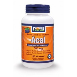ACAI (ΜΟΥΡΑ ACAI ΣΕ ΚΑΨΟΥΛΕΣ) NOW FOODS 500mg 100vcaps
