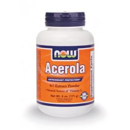 ACEROLA PURE POWDER (ΣΚΟΝΗ ΑΣΕΡΟΛΑΣ) NOW FOODS 170gr
