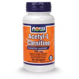 ACETYL L-CARNITINE (ΑΚΕΤΥΛΟ-L-ΚΑΡΝΙΤΙΝΗ) NOW FOODS 500mg 50vcaps