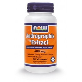 ANDROGRAPHIS EXTRACT (ΕΚΧΥΛΙΣΜΑ ANDROGRAPHIS ΣΕ ΚΑΨΟΥΛΕΣ) NOW FOODS 400mg 90vcaps ΒΕΛΤΙΩΣΗ ΑΜΥΝΑΣ