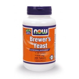BREWER'S YEAST (ΜΑΓΙΑ ΜΠΥΡΑΣ) NOW FOODS 650mg 200tabs