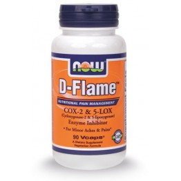 D-FLAME (Cox-2 & 5-Lox Enzyme Inhibitor Formula) NOW FOODS 90vcaps