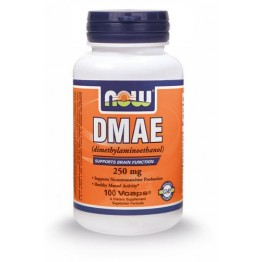 DMAE (Dimelthylaminoethanol) NOW FOODS 250mg 100vcaps