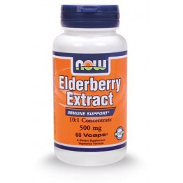 ELDERBERRY EXTRACT (ΕΚΧΥΛΙΣΜΑ ΣΑΜΠΟΥΚΟΥ) NOW FOODS 500mg 60vcaps