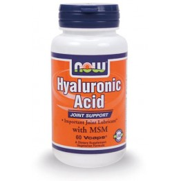 HYALURONIC ACID (ΥΑΛΟΥΡΟΝΙΚΟ ΟΞΥ ΣΕ ΚΑΨΟΥΛΕΣ) NOW FOODS 50mg 60vcaps