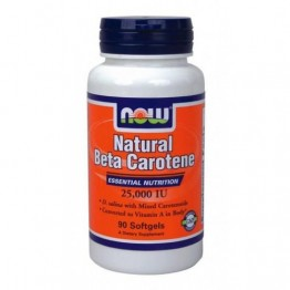 BETA CAROTENE NATURAL NOW FOODS 25.000IU 90sgels ΒΙΤΑΜΙΝΗ Α & D