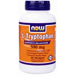 L-TRYPTOPHAN (L-ΤΡΥΠΤΟΦΑΝΗ) NOW FOODS 500mg 60vcaps NOW FOODS