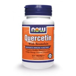 QUERCETIN with Bromelain (ΚΟΥΕΡΣΕΤΙΝΗ ΜΕ ΒΡΟΜΕΛΙΝΗ) NOW FOODS 120vcaps