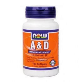 VITAMIN A & D (10.000IU / 400IU) NOW FOODS 100sgels ΒΙΤΑΜΙΝΗ Α & D