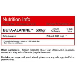 BETA ALANINE POWDER NOW SPORTS 500gr