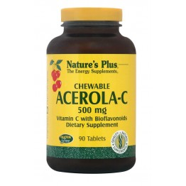 ACEROLA-C COMPLEX CHEWABLE (ΜΑΣΩΜΕΝΗ ΤΑΜΠΛΕΤΑ ΑΠΟ ΣΥΜΠΥΚΝΩΜΕΝΟ ΕΚΧΥΛΙΣΜΑ ΑΣΕΡΟΛΑΣ) NATURE'S PLUS 500mg 90tabs