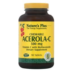 ACEROLA-C COMPLEX CHEWABLE (ΜΑΣΩΜΕΝΗ ΤΑΜΠΛΕΤΑ ΑΠΟ ΣΥΜΠΥΚΝΩΜΕΝΟ ΕΚΧΥΛΙΣΜΑ ΑΣΕΡΟΛΑΣ) NATURE'S PLUS 500mg 90tabs