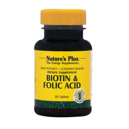 BIOTIN & FOLIC ACID (ΒΙΟΤΙΝΗ & ΦΟΛΙΚΟ ΟΞΥ) NATURE'S PLUS 30tabs