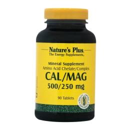 CAL/MAG 500/250 (ΑΣΒΕΣΤΙΟ / ΜΑΓΝΗΣΙΟ) NATURE'S PLUS 90tabs
