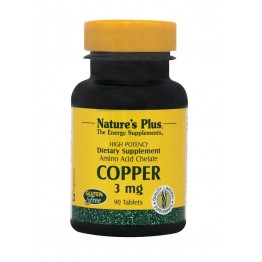COPPER (ΧΗΛΙΚΟΣ ΧΑΛΚΟΣ) NATURE'S PLUS 3mg 90tabs