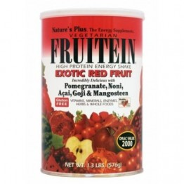FRUITEIN EXOTIC RED FRUIT ENERGY SHAKE POWDER (ΠΡΩΤΕΪΝΟΥΧΑ ΦΟΡΜΟΥΛΑ ΜΕΓΑΛΗΣ ΑΝΤΙΟΞΕΙΔΩΤΙΚΗΣ ΙΣΧΥΟΣ ΑΠΟ ΚΟΚΚΙΝΑ ΦΡΟΥΤΑ ΚΑΙ ΚΑΡΠΟΥΣ)  NATURE'S PLUS 576gr
