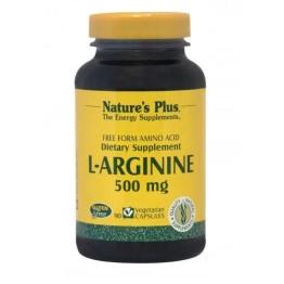 L-ARGININE (L-ΑΡΓΙΝΙΝΗ) NATURE'S PLUS 500mg 90vcaps ΕΝΔΥΝΑΜΩΣΗ & ΑΝΑΠΛΑΣΗ