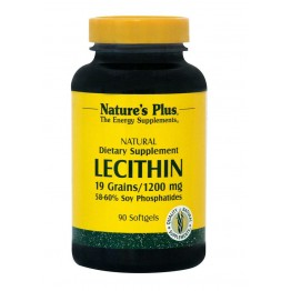 LECITHIN (ΛΕΚΙΘΙΝΗ ΣΟΓΙΑΣ ΣΕ ΚΑΨΟΥΛΕΣ) NATURE'S PLUS 1200mg 90caps ΧΟΛΗΣΤΕΡΙΝΗ - ΛΙΠΙΔΙΑ