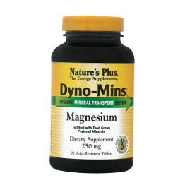 MAGNESIUM 250mg DYNO-MINS (ΟΡΓΑΝΙΚΟ ΜΑΓΝΗΣΙΟ) NATURE'S PLUS 90tabs ΜΥΑΛΓΙΕΣ