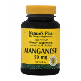 MANGANESE (ΧΗΛΙΚΟ ΜΑΓΓΑΝΙΟ) NATURE'S PLUS 50mg 90tabs ΕΝΤΕΡΙΚΗ ΛΕΙΤΟΥΡΓΙΑ