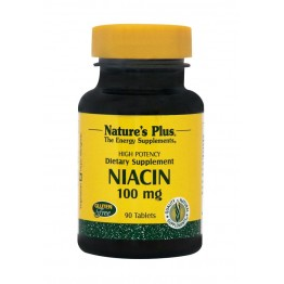 NIACIN (Nicotonic Acid - B3) - (ΝΙΑΣΙΝΗ) NATURE'S PLUS 100mg 90tabs