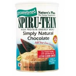 SPIRU-TEIN SIMPLY NATURAL CHOCOLATE POWDER NATURE'S PLUS 370gr