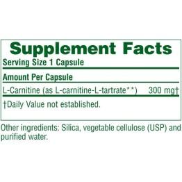 L-CARNITINE (L-ΚΑΡΝΙΤΙΝΗ) NATURE'S PLUS 300mg 30vcaps ΜΥΑΛΓΙΕΣ