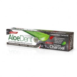 ALOE DENT TRIPLE ACTION CHARCOAL TOOTHPASTE (ΟΔΟΝΤΟΚΡΕΜΑ ΑΛΟΗΣ ΜΕ ΕΝΕΡΓΟ ΑΝΘΡΑΚΑ) OPTIMA 100ml OPTIMA HEALTH & NUTRITION
