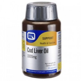 COD LIVER OIL (ΜΟΥΡΟΥΝΕΛΑΙΟ ΣΕ ΚΑΨΟΥΛΕΣ) QUEST 1000mg 30caps