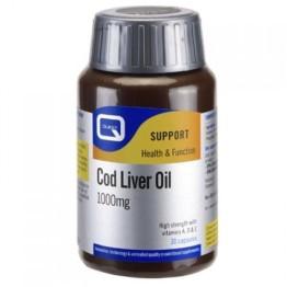 COD LIVER OIL (ΜΟΥΡΟΥΝΕΛΑΙΟ ΣΕ ΚΑΨΟΥΛΕΣ) QUEST 1000mg 30caps