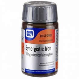 SYNERGISTIC IRON 15mg with B-Complex & Vitamin C (ΣΙΔΗΡΟΣ) QUEST 30tabs ΑΝΑΙΜΙΑ