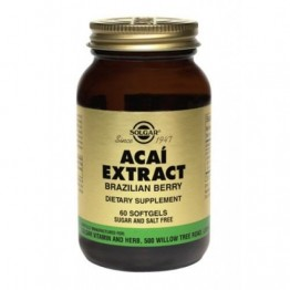 ACAI EXTRACT (ΕΚΧΥΛΙΣΜΑ ΜΟΥΡΩΝ ACAI ΣΕ ΜΑΛΑΚΕΣ ΚΑΨΟΥΛΕΣ) SOLGAR softgels 60s