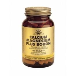 CALCIUM MAGNESIUM PLUS BORON (ΧΡΗΣΙΜΟ ΣΥΜΠΛΗΡΩΜΑ ΣΕ ΠΕΡΙΠΤΩΣΕΙΣ ΕΜΜΗΝΟΠΑΥΣΗΣ) SOLGAR tabs 100s