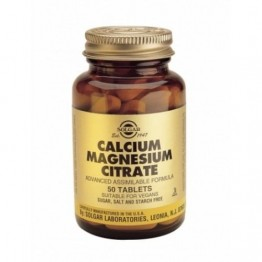 CALCIUM MAGNESIUM CITRATE (ΣΥΝΔΥΑΣΜΟΣ ΑΣΒΕΣΤΙΟΥ - ΜΑΓΝΗΣΙΟΥ ΣΕ ΚΙΤΡΙΚΗ ΜΟΡΦΗ) SOLGAR tabs 50s
