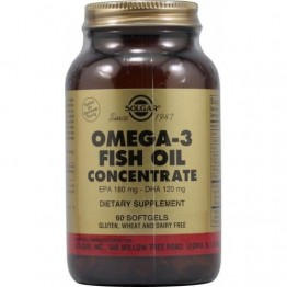 FISH OIL CONCENTRATE (ΣΥΜΠΥΚΝΩΜΕΝΟ ΙΧΘΥΕΛΑΙΟ) SOLGAR 1000mg softgels 60s ΩΜΕΓΑ-3